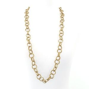 NWT! Betsey Johnson Necklace Open Link Gold Tone
